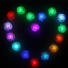 1pc/lot Romantic Rose Night Light LED Colorful Lights Advertising Rose Simulation Wedding Gift Valentine's Day Gift YL677064