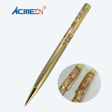 Fashion Slim Ballpoint Pen with Gold foil Special Retail Shop School Supplies Jewellery Accessories for Birthday Gifts Brand Pen(China)