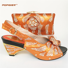 Orange Shoes and Bag To Match Italian Matching Shoe and Bag Set African Wedding Shoes and Bag To Match for Parties Wedding