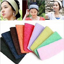 New Unisex Stretch Headband Gym Yoga Cotton Exercise Sports Sweat Head Hair Band Hair Clips
