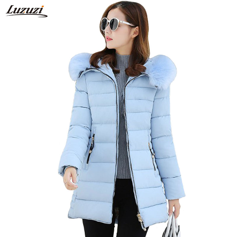 1PC Winter Jacket Women Fur Hooded Parka Cotton Padded Coat Women Jaqueta Feminina Inverno Chaqueta Mujer Z897Îäåæäà è àêñåññóàðû<br><br>