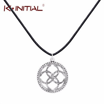 Kinitial Antique Svadebnik Silver Slavic Pendants Necklaces Soul God Runes Fashion Circle Link Charms Wedding Necklace Jewelry