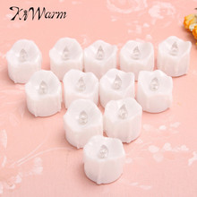 New 12Pcs Flickering Electronic Flameless LED Tea Light Flicker Candles Smokeless Candles Lamp Party Wedding Safety Home Decor