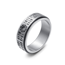 Italian Silver-Color Jewelry Spinning Ring For Men Stainless Steel Mens Women Wedding Bands Rotate Ring Titanium Steel Wide Ring(China)