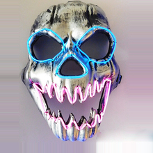 2016 Hot Sale Party EL Wire Vendetta Party Mask Fashion V Cosplay MASK Costume Guy Fawkes Anonymous Mask(China)