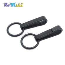 Plastic Black Buckles Gloves Hook Mini Snap Hook With O-Ring Link Chain Bag Parts Accessories