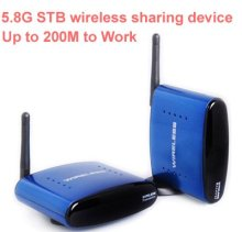 630 200M work 5.8G STB wireless sharing device,5.8G Wireless transceiver,Video Audio Transmitter Receiver 5.8G AV sender adapter