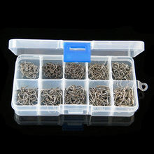 Size #3-12 High Carbon Steel Circle Owner Fishing Hooks Set Freshwater Fishhook Sets Strong Fish Tackle 500PCS/Box