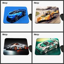 DIY Super Car Game Antiskid Rectangular Computer Mouse Pad, Custom Size, Decorate Your Desk Design As A Gift