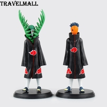 TraVelMall New 2pcs Anime Akatsuki Zetsu Uchiha Obito Madara 10cm PVC Action Figure Toy Doll Model for NARUTO kids gift