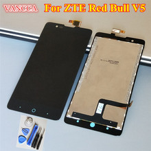 High Quality LCD Display + Digitizer Touch Screen Glass Assembly For ZTE Red Bull V5 V5S U9180 V9180 N9180 Cell Phone 5.0 inch