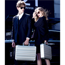 feixueer Luxury Business Aluminum Magnesium Alloy Briefcase Full Metal Suitcase Men Fashion Laptop Case Silver Toolbox Portfolio(China)