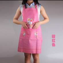 Cute Cartoon Rabbit Painting Apron Waterproof Cooking Resturant Kitchen Women Lady Home Apron delantal rabbit  7zza005