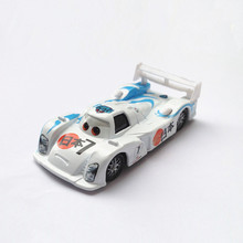 Pixar Cars No.7 Shu Todoroki Blue & White Japanese Racing Car Metal Diecast McQueen Model Car 1:55 Alloy Car Toy for Children(China)