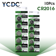 10pcs/pack CR2016 Lithium Button Battery LM2016 BR2016 DL2016 Cell Coin Batteries 3V CR 2016 For Watch Electronic Toy Remote(China)