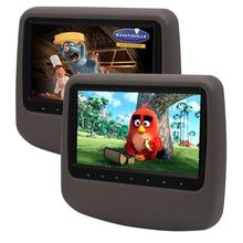 Car PC Headrest 2 Pieces monitor CD DVD Player Autoradio 9 inch Digital Screen Car Monitor USB SD FM supports TV Game IR Remote