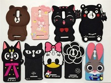 For Redmi Note 3 Cute 3D Silicon Bunny Cat Bear Cartoon Soft Cell Phone Case Cover for xiaomi redmi note 3 note3 hongmi note 3