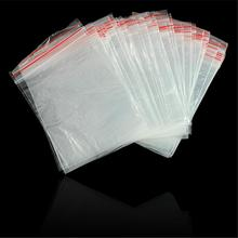 WX Small ziplock bags 9x13cm plastic ziplock resealable packing bags 100PCS zip lock plastic bags reclosable zip lock bags