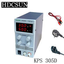 Free Shipping !KPS305D Adjustable  precision double LED display switch DC Power Supply protection function 0-30V/0-5A 110V-230V