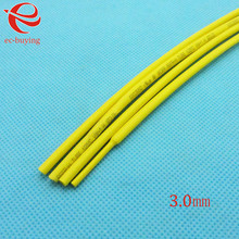 Heat Shrink Tube Yellow Tube Heat-Shrink Tubing Diameter 3mm Thermo Jacket Wire Wrap Insulation Materials Element 1meter /lot