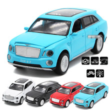 1:32 alloy pull back cars,high simulation bentley SUV EXP model ,metal casting,toy vehicles,musical & flashing,free shipping