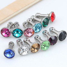 100 pcs Crystal Bling Diamond 3.5mm Cell Phone Earphone Jack Anti Dust Plug For Iphone Samsung Huawei xiaomi Accessories