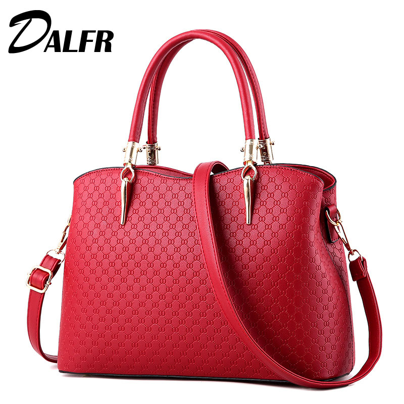 DALFR Pu Leather Women Shoulder Bag Ladies Luxury Top-Handle Bag Brand Casual Tote Bag Designer Woman Handbag<br>