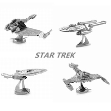 3D Jigsaw Puzzles For Kids Star Trek Metal DIY Scale Model Building Architecture Educational Toy For Children Gifts For Adult