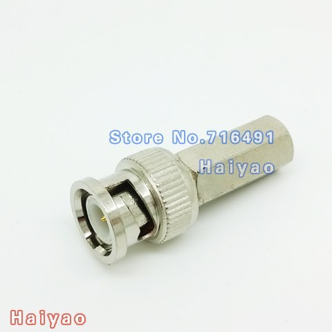 50PCS BNC Male Connector Plug to RG59 Coax Cable Coupler Adapter for cctv camera Solderless<br><br>Aliexpress