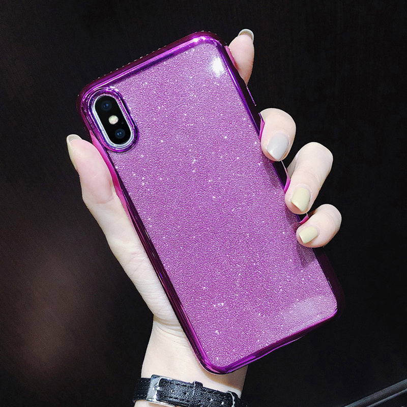 Rhinestone Glitter Case for Apple iphone XS MAX XR 10 X 7 8 Plus 6 S 6s Soft Silicone TPU Diamond Sexy Girl Protector Back Cover (6)
