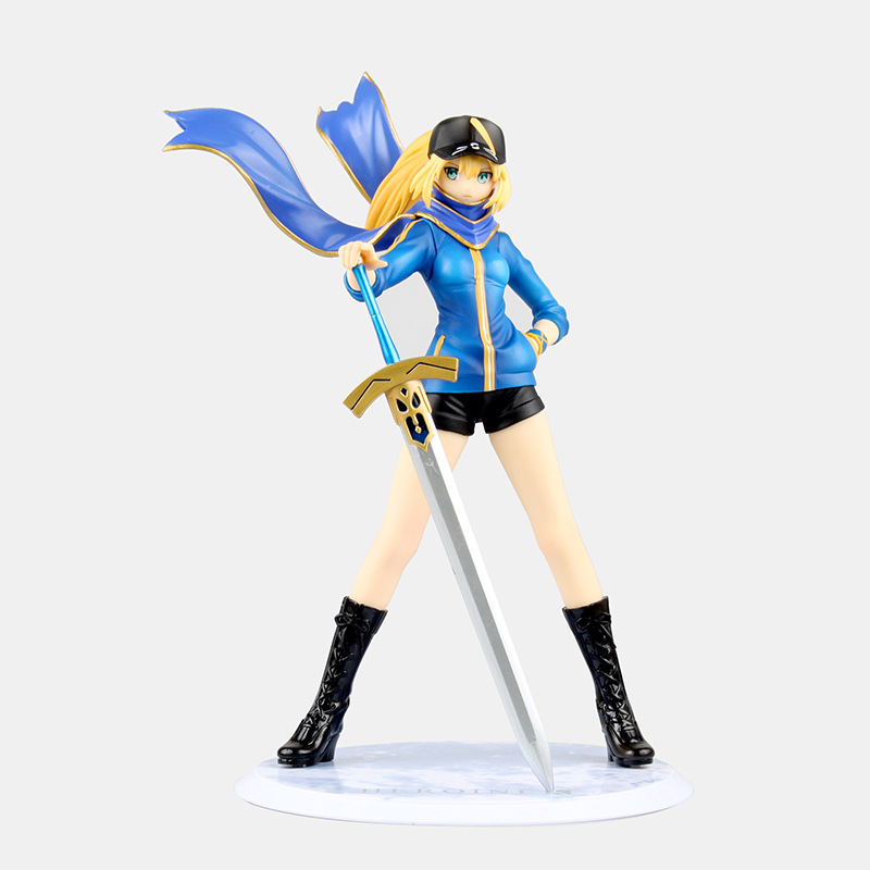 Anime Fate Stay Night Fate Servant X Mordred Saber Pre-Painted PVC Action Figure Collectible Model Kids Toys Doll 22cm FNAF005<br>