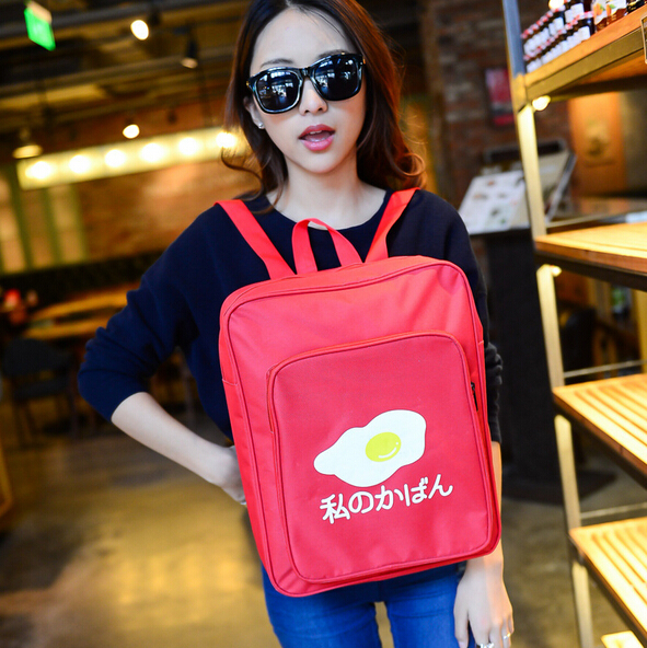 2015 new / Japan and South Korea / fashion simple college wind / personality eggs / sweet schoolbag / travel bags /Free Shipping<br><br>Aliexpress
