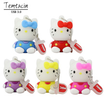100% Realcapacity Wholesale Cartoon Hello Kitty 3.0 USB Flash Pen Drive Disk Memory Sticks 8GB 16GB 32GB PenDrive Free Shipping