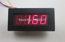 Red LED Motor Tachometer Speed Measure Meter panel with Ratio Factor 5-9999 RPM display