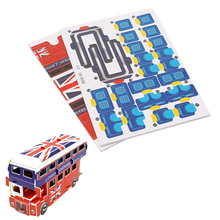 Double Decker Bus Educational 3D Puzzle Paper & EPS Model Papercraft Home Gift #K4UE# Drop Ship(China)