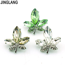 Fashion Leaf Shape Metal 3 Color 18mm Snap Button Ginger Clasp Interchangeable DIY  Jewelry Accessories Free Shipping