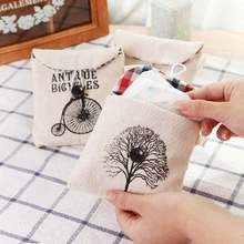 Household Goods Receive Package Sanitary Napkin Storage Bag Black White With Nostalgic Pattern Cartoon Women Lady Cotton Pads(China)