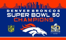 Denver Broncos Flag 3ft x 5ft Polyester Banner flag white sleeve with 2 Metal Grommets free shipping(China)