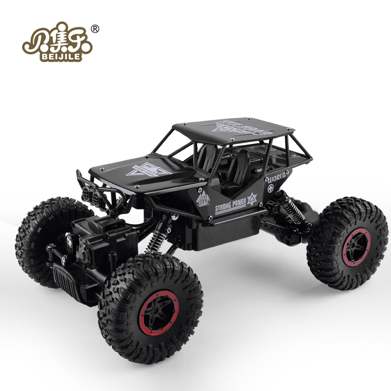 RC Car 1:18 4DW 2.4GHz Metal Rock Crawlers Rally Climbing Car Double Motors Bigfoot Car Remote Control Model Toys for Boys.<br>