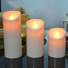Unquie collection LED Candles with marble finishing,Made by real wax, Candle led light for holiday party,Home Decoration