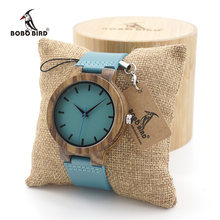 BOBO BIRD Men's Ebony Wood Watches Timepiece Simple Blue Design Men Top Brand Wrist Watches(China)