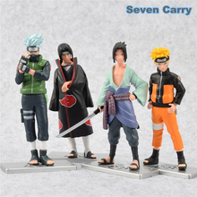 4pcs/set Naruto Uzumaki Naruto Sasuke Kakashi Hatake itachi PVC Action Figure Collectible Model Toy Gifts for boys 12cm CSHC23