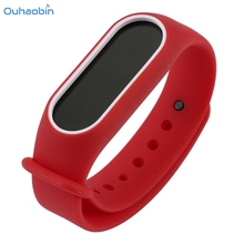 Buy Ouhaobin Popular Replacement Silica Gel Strap Wristband Band Xiaomi Mi Band 2 Strap Bracelet Multicolor Fresh Straps Set7 for $1.68 in AliExpress store