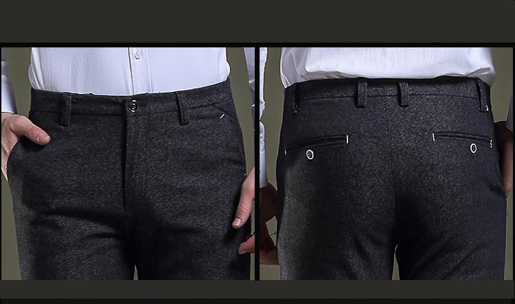 faf2cba5ea6 2019 Jbersee Men Dress Pants Formal Pants Slim Fit Suit Business ...
