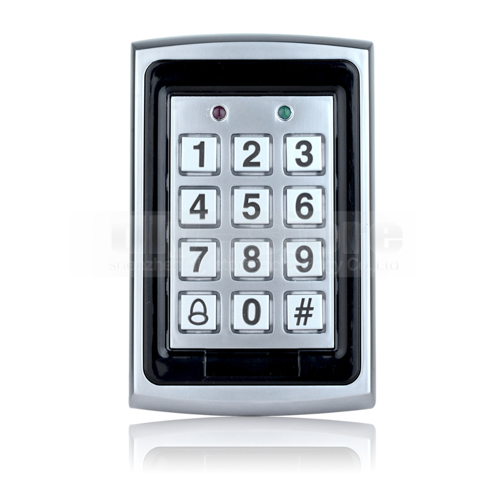 DIYSECUR 125KHz RFID ID Card Reader Metal Keypad With Door Bell Button Door Access Control System +10 ID Key Fobs<br><br>Aliexpress
