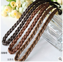 T239 New 2017 jewelry Little braids wig piece hair accessories hair band rubber hair braids hair clips braided rope ring 1pcs