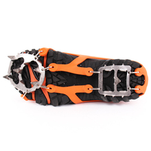 1 Pair Crampons Ice Snow Climbing Anti Slip Ice Cleats Gripper Shoe Covers Chain Spike Sharp Snow Cleats Winter Ski Crampon(China)