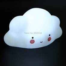 NEW Novelty Cloud Smile Face Night Light Childrens Bedroom Nursery Night Lamp Mini Cloud Light Emitting Children Room Decor(China)