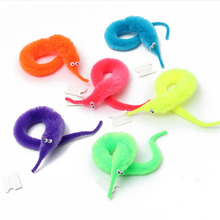 6Pcs/set OPP Bag Packing Magic Trick Twisty Fuzzy Worm kids Cartoon Animals Toys Bile Pussy Mr Fuzzy Dolls