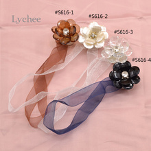 Lychee 1 Piece Flower Shape Curtains Tieback Magnet Curtains Buckle Curtain Accessories(China)